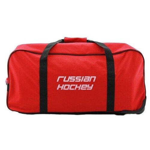 Баул хоккейный, сумка спортивная на колесах BITEX 24-201 красный,черный red fox баул на колесах roller duffel 100 4400 янтарь ss17