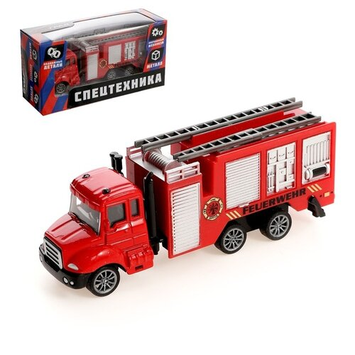 Фото - Машина металлическая «Пожарная служба», инерция, с элементами из пластика, автоград машина металлическая микроавтобус пожарная служба инерция 1 43 sl 01428k 3527632