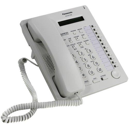 Системный телефон Panasonic KX-T7730 белый panasonic kx dt346ru white цифровой системный телефон