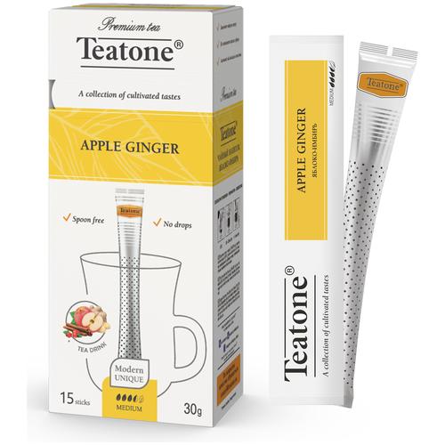 Чайный напиток травяной Teatone Яблоко-Имбирь в стиках, 30 г, 15 шт. чайный напиток травяной живые витамины имбирь лимон в стиках 300 г 10 шт