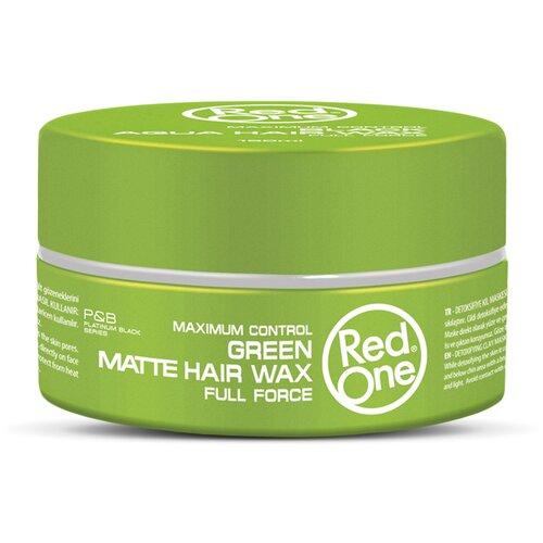 RedOne Матовый воск для волос ультрасильной фиксации Matte Hair Wax GREEN, 150 мл