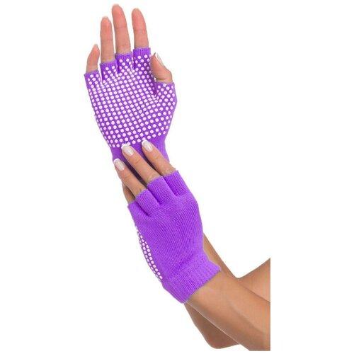 Перчатки противоскользящие для занятий йогой, фиолетовые перчатки рабочие противоскользящие brigadier extrema