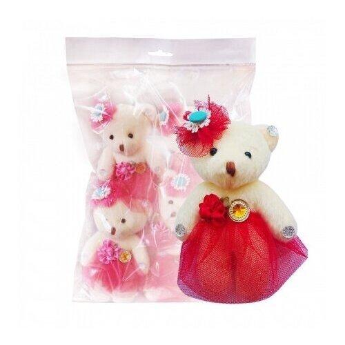 Набор мягких игрушек Color Kit Мишка в красном сетка 5 шт. NM007