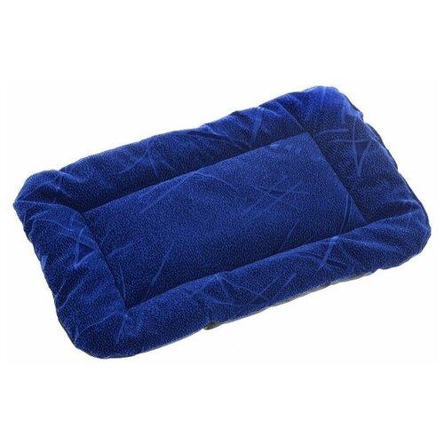Лежак для собак и кошек Зоо Марк Матрас №3 44х62х4.5 см синий