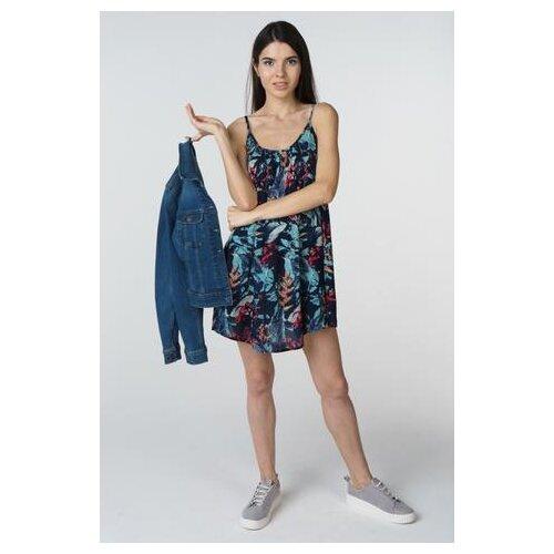 свитшот roxy wishing away bln0 m Платье Roxy ERJX603106 женское Цвет Синий BTK6 Анималистичный р-р 44 M