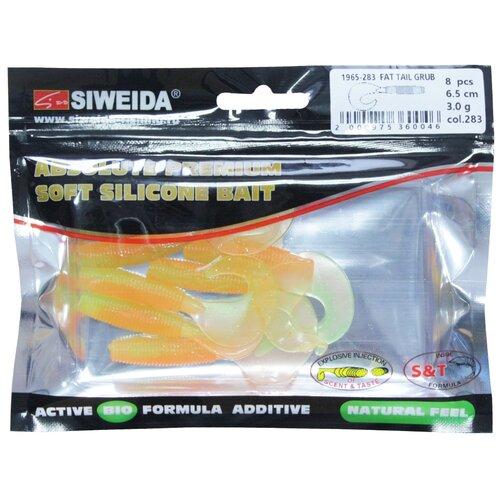 Набор приманок резина SIWEIDA Fat Tail Grub твистер цв. 283 8 шт.