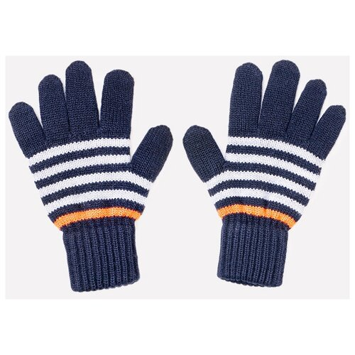 Купить Перчатки crockid размер 12, темно-синий/ярко-оранжевый, Перчатки и варежки