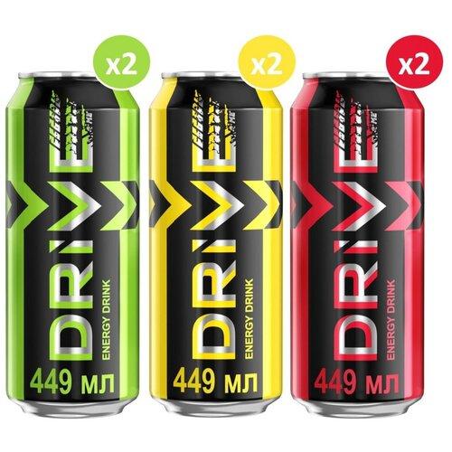 Фото - Энергетический напиток Drive me Микс 3 вкуса, 0.449 л, 6 шт. энергетический напиток solar power 0 45 л 6 шт