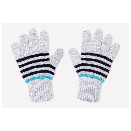 Купить Перчатки crockid размер 12, св.серый меланж/темно-синий, Перчатки и варежки
