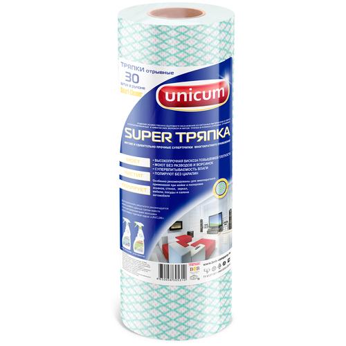 Тряпка в рулоне Unicum Super тряпка Smart Cleaner 30 шт, голубой