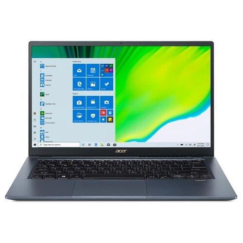 "Ноутбук Acer SWIFT 3x SF314-510G-77P5 (Intel Core i7 1165G7 2800MHz/14""/1920x1080/16GB/2000GB HDD/Intel Iris Xe Graphics 4GB/Endless OS) NX.A0YER.002 синий"