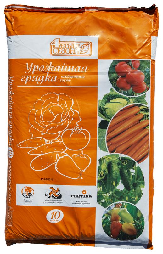 Купить Грунт Четыре сезона Урожайная грядка 10 л. по низкой цене с доставкой из Яндекс.Маркета
