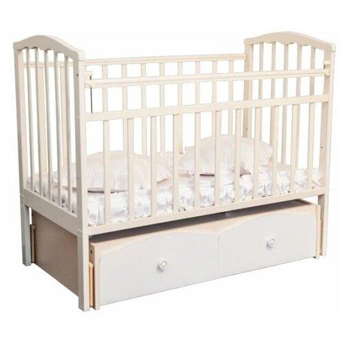 Купить Кровать Золушка -7 маятник поперечный, ящик (52105, слоновая кость), Агат, Кроватки