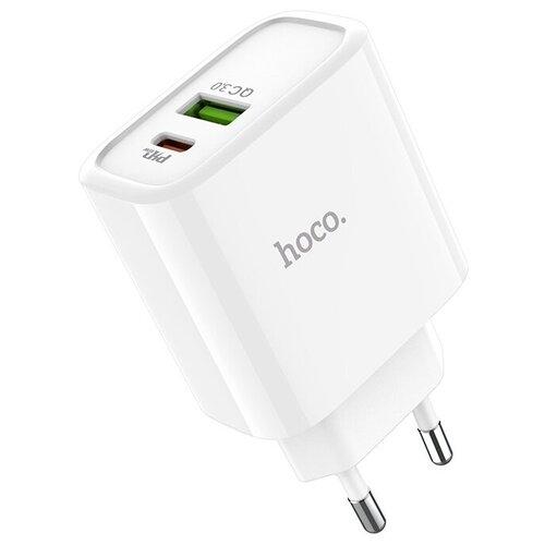 Сетевая зарядка Hoco C57A Speed charger, белый