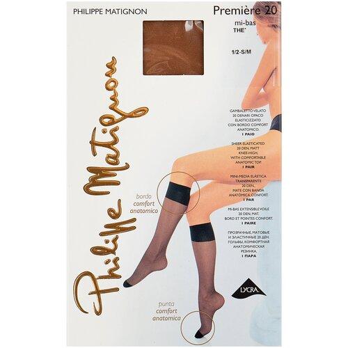 Капроновые гольфы Philippe Matignon Premiere 20 den mi-bas, размер 1/2 (S/M), the