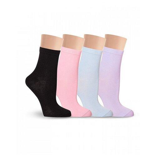 Носки женские LorenzLine Д5 цветные, 85% хлопка, Черный, 25 (размер обуви 37-38)