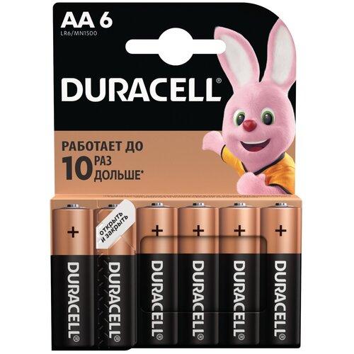 Фото - Батарейка Duracell Basic AA, 6 шт. батарейка energizer max plus aa 4 шт