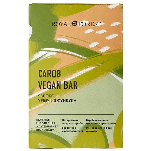 Фото - Шоколад ROYAL FOREST Carob vegan bar Яблоко, урбеч из фундука, 50 г royal forest carob drops дропсы из порошка плодов рожкового дерева 50 г