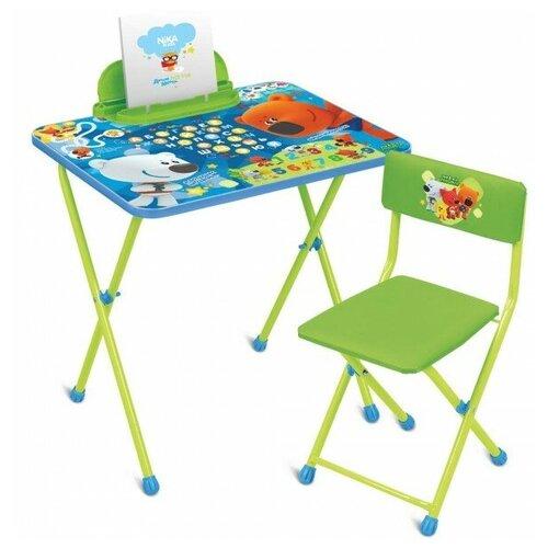 Купить Nika Комплект детской мебели Ми-Ми-Мишки (стол+бол.пен+стул с водоотталкивающей пропиткой), Парты и столы