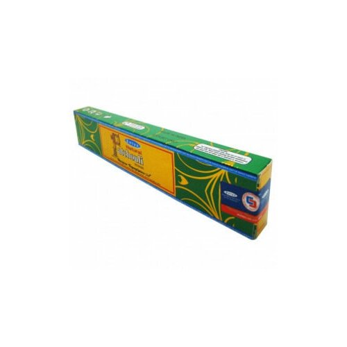 Благовония Satya Натуральный пачули (Natural Patchouli), прямоугольная упаковка, 15гр