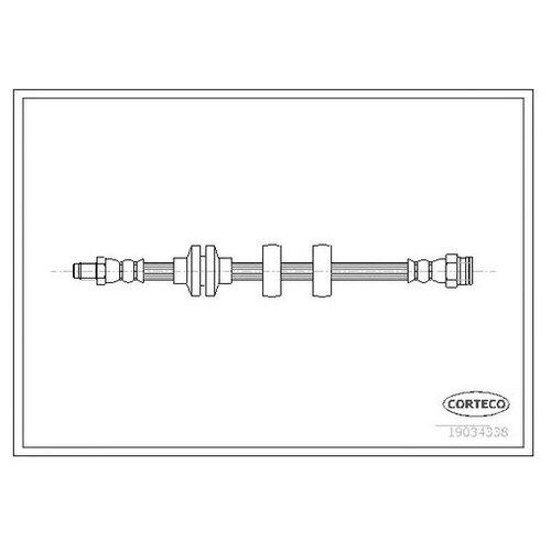 Шланг тормозной Corteco 19034338 для Fiat Doblo