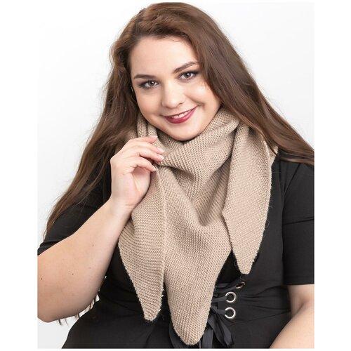 Женский теплый шарф-платок из шерсти, ТМ Reflexmaniya, RN169-Бежевый.