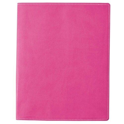 Бизнес-тетрадь Attache Клэр А4 96л, клетка, кожзам, розовая