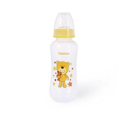 Бутылочка Fissman для кормления 300 мл, цвет ЖЕЛТЫЙ (пластик) (6881)