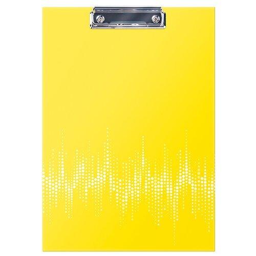 Berlingo Папка-планшет с зажимом Neon А4, ламинированный картон неоновый желтый