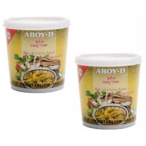 Паста карри желтая Aroy-D (2 шт. по 400 г) паста чили с соевым маслом aroy d 260 г