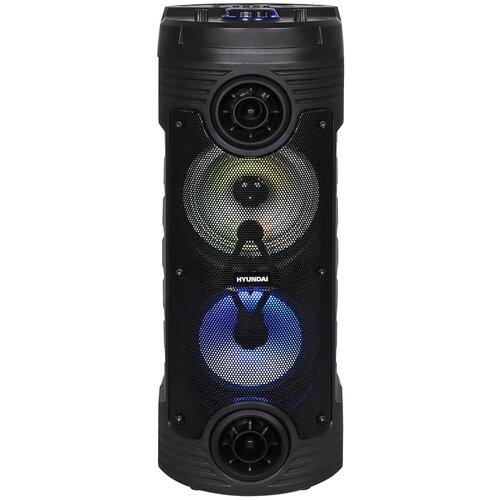 Минисистема Hyundai H-MC170 черный 80Вт/FM/USB/BT/SD/MMC