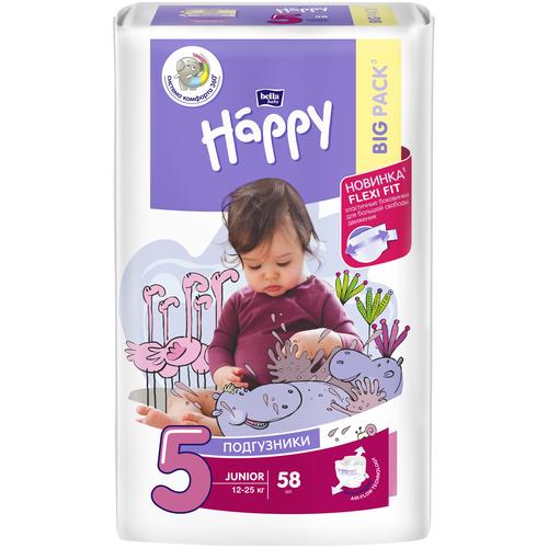 Bella Baby happy подгузники Junior 5 (12-25 кг), 58 шт.