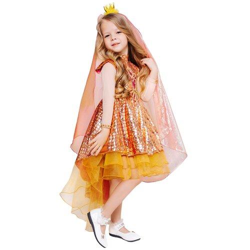 Купить Костюм пуговка Золотая Рыбка (2121 к-21), розовый/желтый, размер 116, Карнавальные костюмы