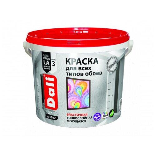 Фото - Краска акриловая DALI Для обоев влагостойкая моющаяся матовая 5 л краска акриловая dali для кухни и ванной влагостойкая моющаяся матовая белый 5 л