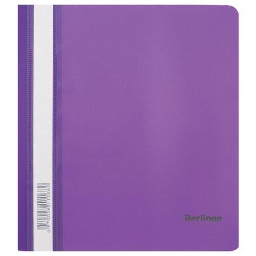 Папка-скоросшиватель пластиковая Berlingo, А5, 180мкм, фиолетовая с прозрачным верхом, упаковка 20 шт.
