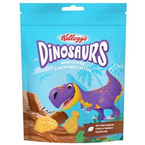 печенье kellogg s dinosaurs сахарное в молочной глазури 127 г Печенье Kellogg's мини в молочной глазури, 50 г