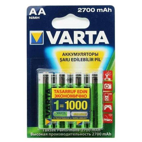 Фото - Аккумуляторы Varta АА Professional Accus Ni-MH 2700 мАч, 4 шт. зу panasonic basic k kj51mcc04e для 2 или 4 акк аа ааа ni mh 10 часов и 4шт ааа 750 мач
