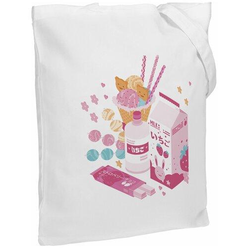Сумка-шоппер «Осака. Каммихин», молочно-белая