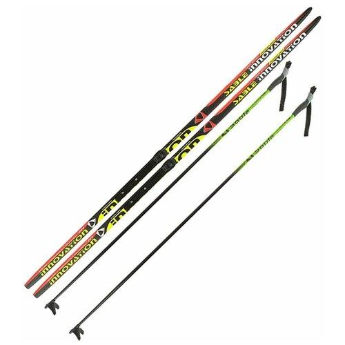 Лыжный комплект (лыжи + палки + крепления) NNN 195 СТЕП Step-in, Sable innovation