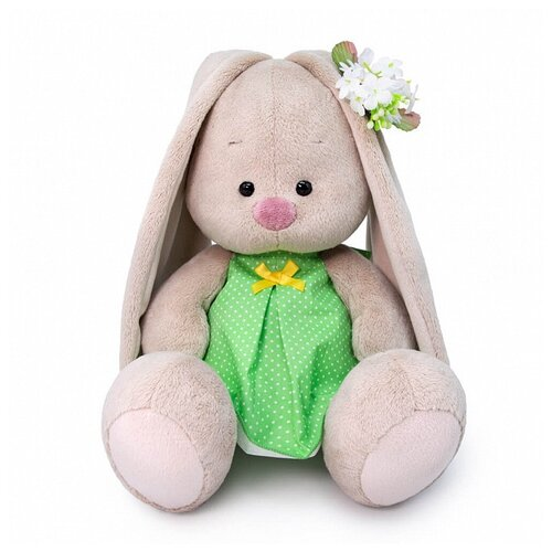 Мягкая игрушка Зайка Ми в платье в горох 18 см мягкая игрушка зайка ми в платье в стиле кантри 25 см