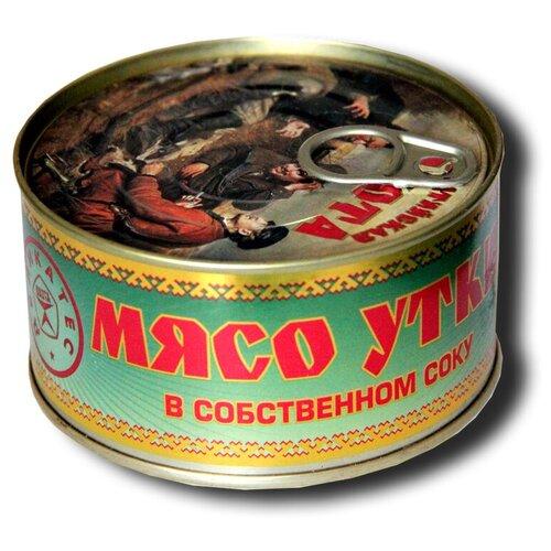 ОХОТА Мясо уток в собственном соку, 325 г