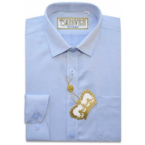 Рубашка Tsarevich размер 33/140-146, голубой