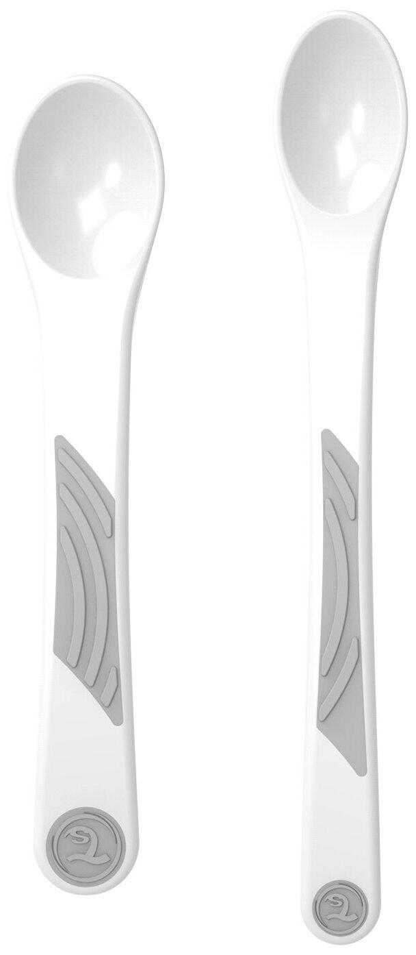 Ложки для кормления Twistshake (Feeding Spoon) в наборе из 2 шт. Белый (White). Возраст 4+m. Арт. 78197