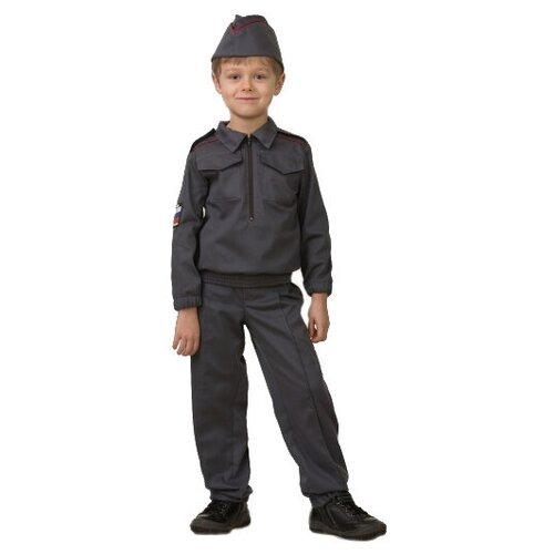 Купить Костюм Батик Полицейский (5708), серый, размер 122, Карнавальные костюмы