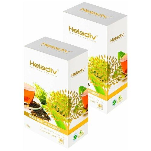 чай зеленый heladiv pekoe green tea soursop 250 г 1 уп Чай черный Heladiv PEKOE Black Tea Soursop, 100 г, 2 уп.