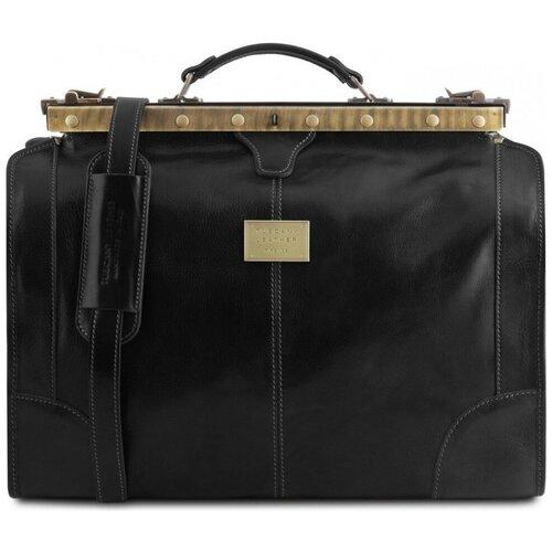 Дорожный кожаный саквояж Tuscany Leather Madrid TL1023 Черный