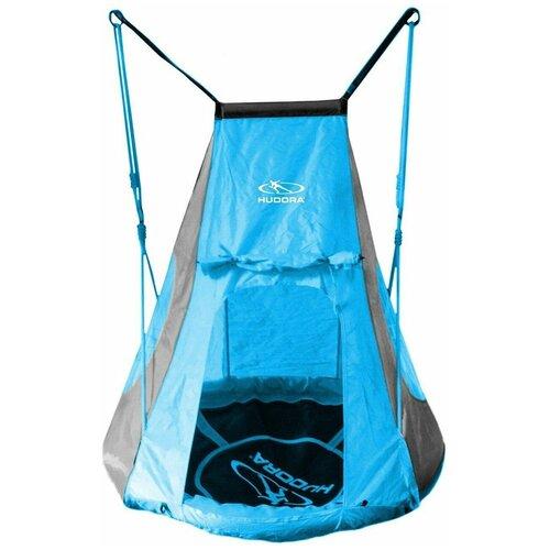 Качели-гнездо HUDORA 90 синие с палаткой
