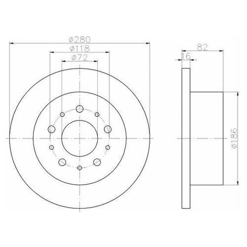 Фото - Тормозной диск Textar 92116103 для Citroen JUMPER; Fiat DUCATO; Peugeot BOXER тормозной диск задний miles k010676 280x16 для citroen jumper fiat ducato peugeot boxer
