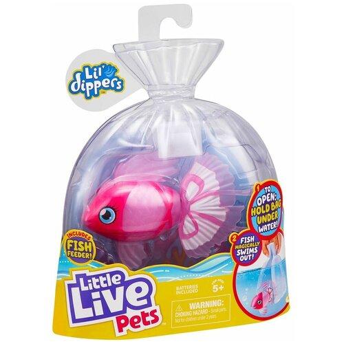 Купить Little Live Pets Волшебная рыбка Lil' Dippers Розовая 26159, Роботы и трансформеры