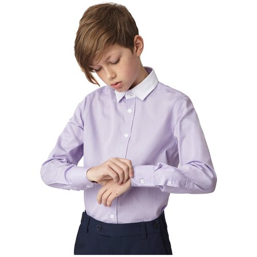 Рубашка Gulliver размер 122, сиреневый недорого